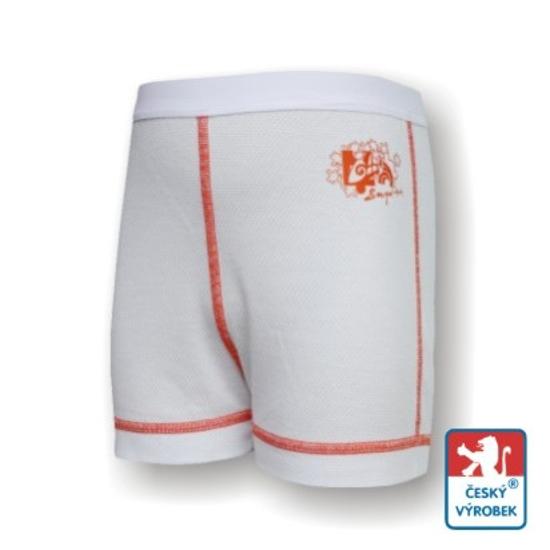 Obrázek z Dětské trenýrky bílá/oranžová SilverTech