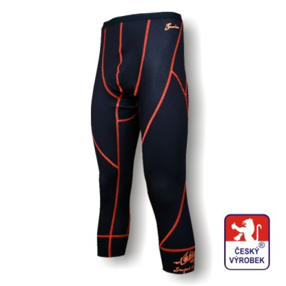 Obrázek Pánské spodky dlouhé černá/oranžová BambooLight