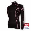 Obrázek z Dámské triko dlouhý rukáv-stoják černá/růžová BambooLight