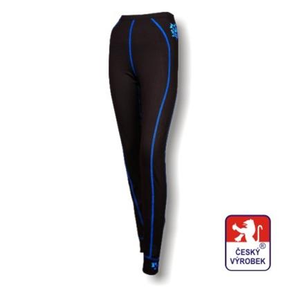 Obrázek Dámské spodky dlouhé černá/modrá BambooLight