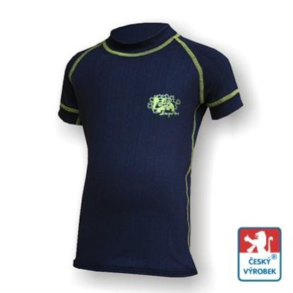 Obrázek Dětské triko krátký rukáv černá/zelená BambooLight