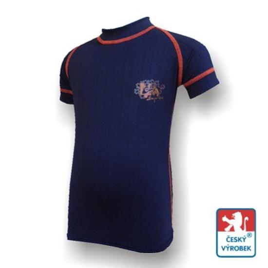 Obrázek z Dětské triko krátký rukáv černá/oranžová BambooLight