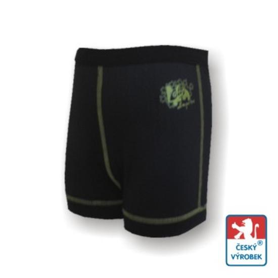 Obrázek z Dětské trenýrky černá/zelená BambooLight