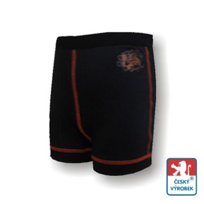 Obrázek Dětské trenýrky černá/oranžová BambooLight