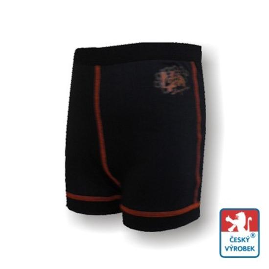 Obrázek z Dětské trenýrky černá/oranžová BambooLight