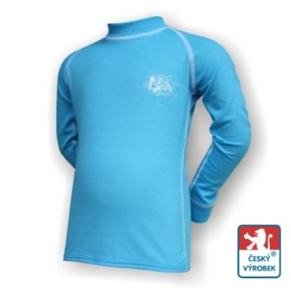 Obrázek Dětské spodky + triko dlouhý rukáv rukáv sv.modrá/bílá Smart Ag
