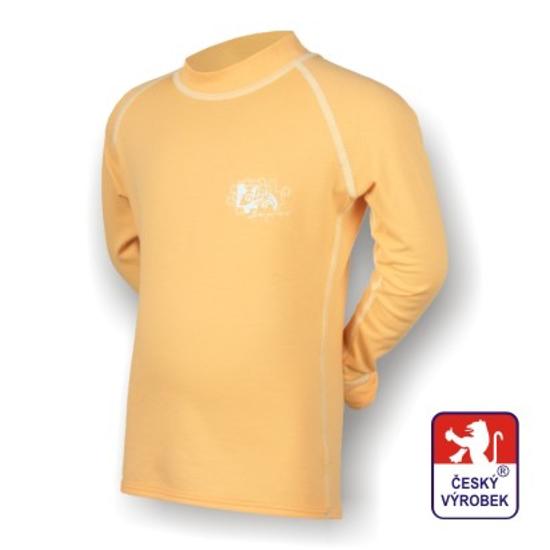 Obrázek z Dětské spodky + triko dlouhý rukáv rukáv béžová/bílá SilverTech