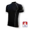 Obrázek z Pánské triko krátký rukáv černá/šedá BambooHeavy