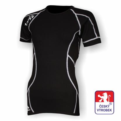 Obrázek Dámské triko krátký rukáv černá/bílá BambooHeavy