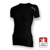 Obrázek z Dámské triko krátký rukáv černá/zlatá BambooHeavy