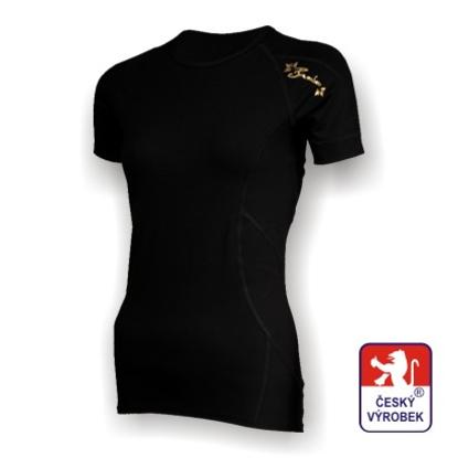 Obrázek Dámské triko krátký rukáv černá/zlatá BambooHeavy