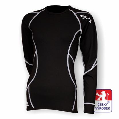 Obrázek Dámské triko dlouhý rukáv černá/bílá BambooHeavy