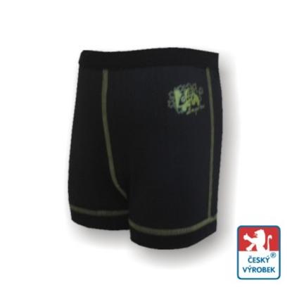 Obrázek Dětské trenýrky černá/zelená BambooHeavy