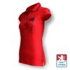 Obrázek z Dámské polo krátký rukáv červená/černá Bavlna