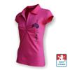 Obrázek z Dámské polo krátký rukáv růžová/černá Bavlna