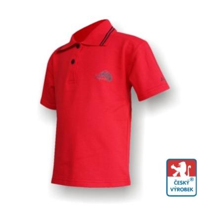 Obrázek Dětské polo krátký rukáv červená/černá Bavlna