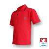 Obrázek z Dětské polo krátký rukáv červená/černá Bavlna