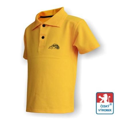 Obrázek Dětské polo krátký rukáv žlutá/černá Bavlna