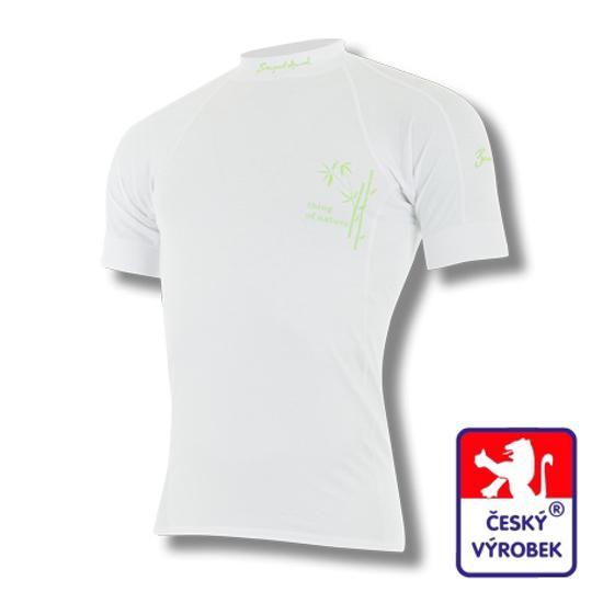 Obrázek z Pánské triko krátký rukáv bílá BambooLight