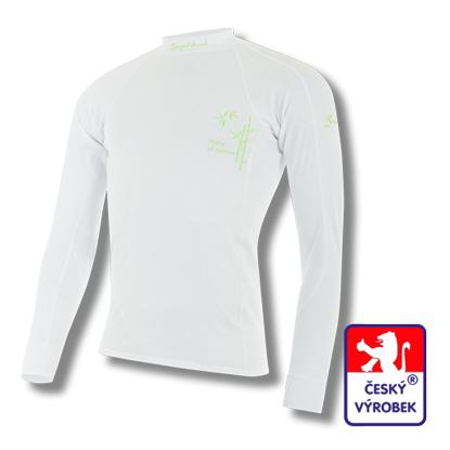 Obrázek Pánské triko dlouhý rukáv bílá BambooLight