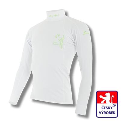Obrázek Pánské triko dlouhý rukáv-stoják bílá BambooLight