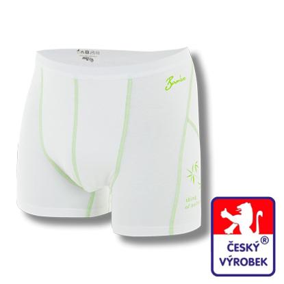 Obrázek Pánské trenýrky bílá/zelená BambooLight