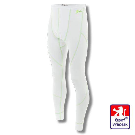 Obrázek z Pánské spodky dlouhé bílá/zelená BambooLight