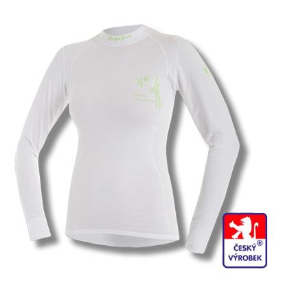 Obrázek Dámské triko dlouhý rukáv bílá BambooLight