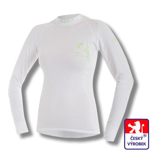 Obrázek z Dámské triko dlouhý rukáv bílá BambooLight