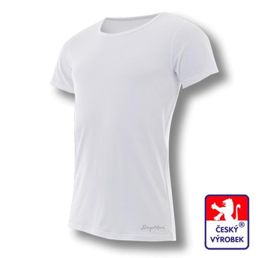 Obrázek z Pánské Office triko kr.rukáv bílá BambooLight