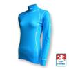 Obrázek z Dámské triko dlouhý rukáv-stoják sv.modrá/bílá Smart Ag