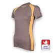 Obrázek z Dámské triko krátký rukáv šedá/béžová SilverTech
