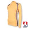 Obrázek z Dámské triko dlouhý rukáv-stoják béžová/šedá SilverTech