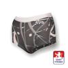 Obrázek z Dámské kalhotky s nohavičkou potisk černá SilverTech