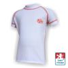 Obrázek z Dětské triko krátký rukáv bílá/oranžová SilverTech