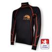 Obrázek z Pánské triko dlouhý rukáv-stoják černá/oranžová BambooLight
