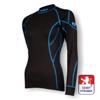 Obrázek z Dámské triko dlouhý rukáv černá/modrá BambooLight