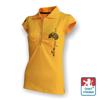 Obrázek z Dámské polo krátký rukáv žlutá/černá Bavlna