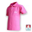 Obrázek z Dětské polo krátký rukáv růžová/bílá Bavlna