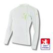 Obrázek z Pánské triko dlouhý rukáv bílá/zelená BambooLight