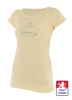 Obrázek z Dámské prodloužené designové tričko Crown světle žluté - bavlna