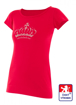 Obrázek z Dámské prodloužené designové tričko Crown červené - bavlna