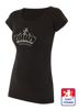 Obrázek z Dámské prodloužené designové tričko Crown černé - bavlna