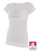 Obrázek z Dámské prodloužené designové tričko Crown bílé - bambus