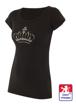 Obrázek z Dámské prodloužené designové tričko Crown černé - bambus