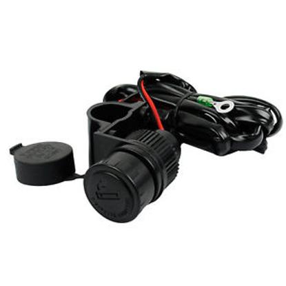 Obrázek Vodotěsná zásuvka na moto 12V 120W Zapalovač