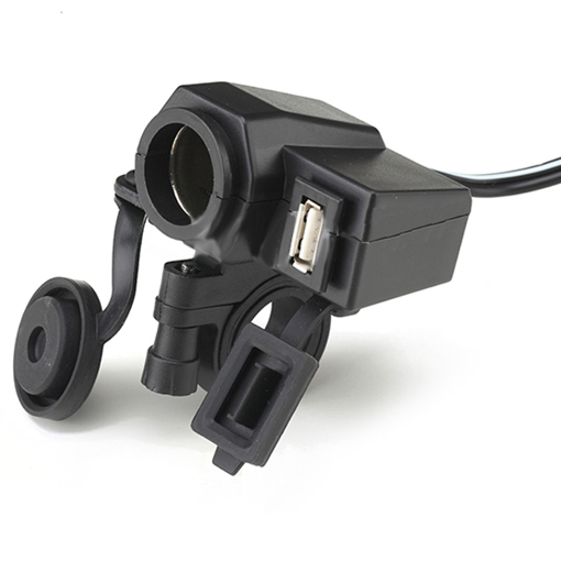Obrázek z Vodotěsná zásuvka na moto 12V 5V USB