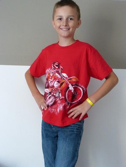 Obrázek z Ručně malované dětské  moto tričko