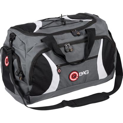 Obrázek Sportovní taška Qbag černo/šedo/bílá