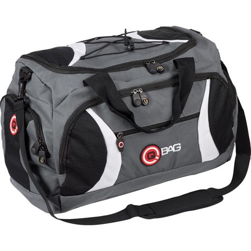 Obrázek z Sportovní taška Qbag černo/šedo/bílá